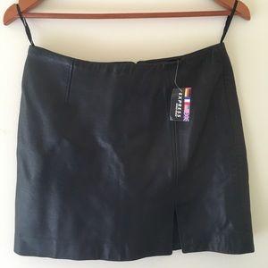 Vintage Express Leather Slit Mini Skirt 5/6